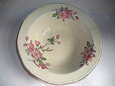 Vintage Edwin Knowles China Co. 'Alice Anncream' Pink Tree Blossom Serving Bowl
