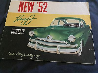 1952 Kaiser Hebert J Full Line Color Original Brochure Prospekt