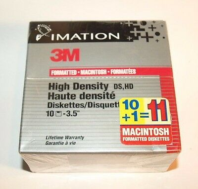 Imitation 3m High Density MacIntosh 3.5 Disk Sealed 11 Pack
