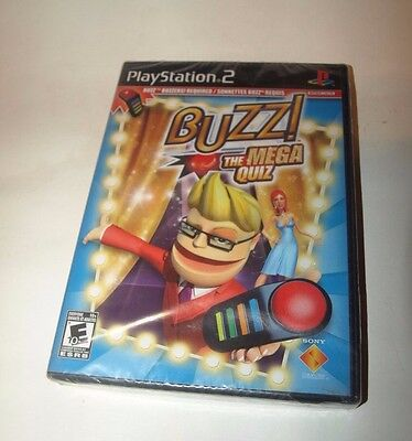 Playstation 2 Buzz The Mega Quiz Game Only New