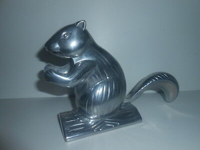 Vintage Novelty Cast Metal Squirrel Nut Cracker PERFECT - NEVER USED -SEE PHOTOS