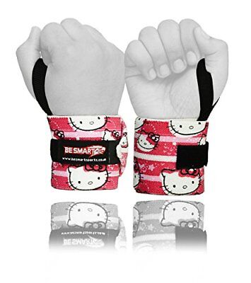 Kitty Weight Lifting Wrist Wraps Bandage Hand Support Brace Gym Straps Cotton UK
