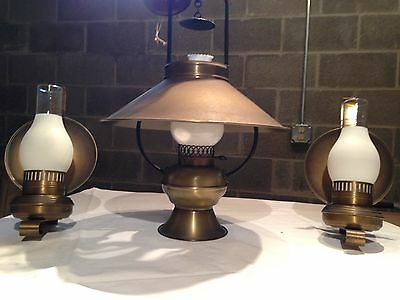 Antique BRASS CHANDELIER & 2 SCONCES, by Kichler
