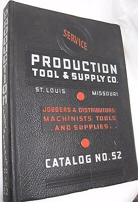 vtg BIG 1950s Service Production Tool Supply Co Catalog 1952 Illustrated 408 pg