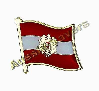 Austria (Austrian) Flag Hat Pin / Badge - Brand New