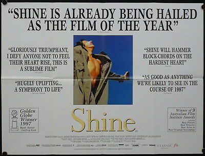 Shine (1996) UK QUAD GEOFFREY RUSH