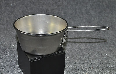 Vintage Cascade Cup Pint Stainless Steel Camping Pot with Folding Handle