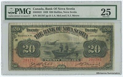 BANK OF NOVA SCOTIA 1929 $20. McLeod / Moore PMG VF-25  Inv #2906