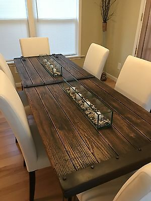 Reclaimed 1800's Barn Door Table Repurposed Into Table