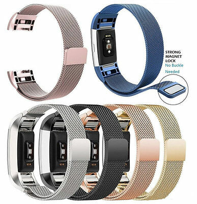 Fitbit Charge 2 Armband Edelstahl Replacement Wrist Band Strap Watchband Magnet