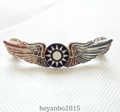 Wwii Chinese Kmt Kuomintang Flying Tiger Wings Hat Pin Badge Color Silver