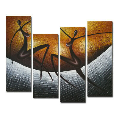 Abstract Hand Paint Canvas Oil Painting Picture Home Decor Wall Art Brown Dancer
