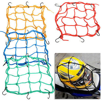 30*30cm Motorcycle 6 Hooks Fuel Tank Luggage Net Mesh CargoWeb Bungee Hold Down
