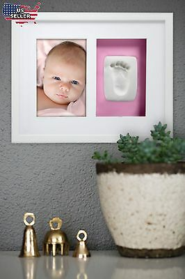 Pearhead Babyprints Baby Handprint or Footprint Wall Photo Frame Kit