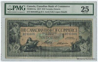 CANADIAN BANK OF COMMERCE 1917 $10. 75-16-04-12a PMG VF-25  Inv #2015