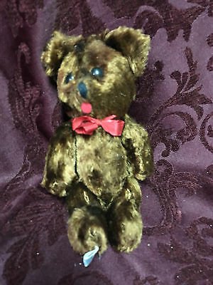 Vintage, jointed teddy bear, 8""
