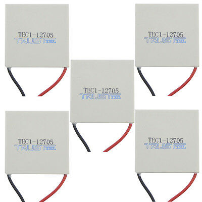 5pcs TEC1-12705 Heatsink Thermoelectric Cooler Peltier Plate Module USA 12V