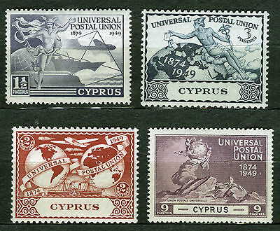 Cyprus 1949 Upu Issue. A Set Of Four Mnh Stamps