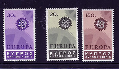 Cyprus 1967 Europa.  A Set Of Three Mnh Stamps.