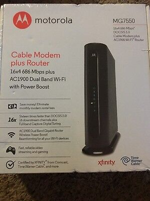 Motorola MG7550 16x4 686 Mbps DOCSIS 3.0 Cable Modem + AC1900 Wireless Dual-Band
