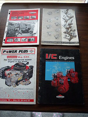 Lot of 4 Vintage Briggs & Stratton Catalogues Service Tools Engines Mowers