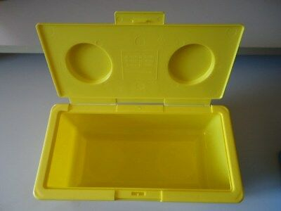 Large Yellow Lego Shaped Stackable Storage Container -Buttons,lace,thread