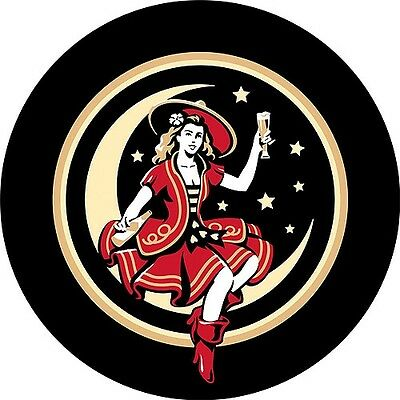 Trademark Miller High Life Girl In The Moon Vintage 42' Pub Table, Chrome