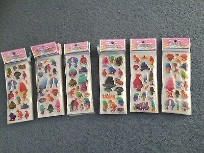 Trolls stickers party supplies loot bags buy 5 get 5 free  NEW birthdays