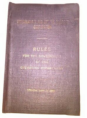 "1948 D & H Railroad ""Rules for the Government of the Operating Department"" RARE"