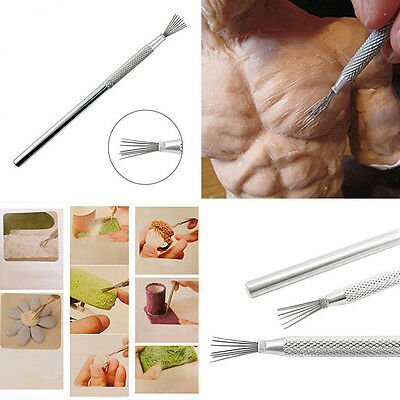 Feather Wire Texture Clay Sculpting Wax Carving Pottery Art Tools Clay Sculpting