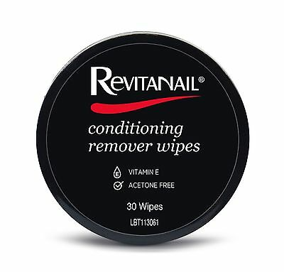 Dr. Lewinns Revitanail Conditioning Nail Polish Remover Wipes - 30 Wipes