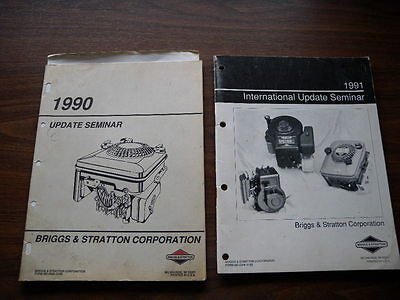 2 x Vintage Briggs & Stratton International Update Seminar Manuals 1990 1991