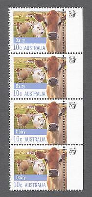 2012 Australian Strip of 4 x 10cent MUH Stamps With Koalas