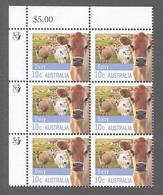 2012 Australian Block of 6 x 10cent MUH Stamps With Koalas