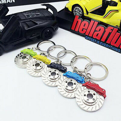Calipers Shape Creative Car Parts KeyRing Keyfob Keyfinder Disc Brake Keychain