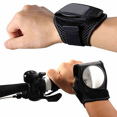 Bike Bicycle Flexible Wrist Band Strap Reflex Rear View Rearview Mirror