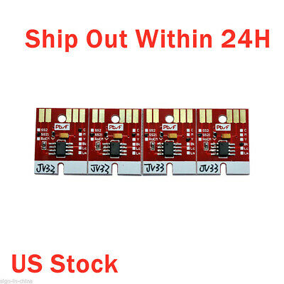 USA Stock!  Chip Permanent for Mimaki JV33 SS21 Cartridge 4 Colors CMYK