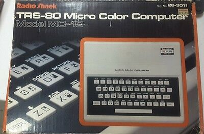 Radio Shack TRS-80 Micro Colour Computer Model MC-10 Working w/Box AC