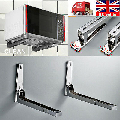 Universal Top Steel Microwave Wall Mounting Holder Brackets Extendable Arm Shelf
