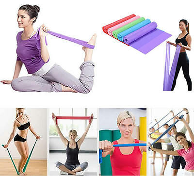 1.5M Elastic Resistance Pilates Stretch Yoga Band Belt Sports Pulling Rope Gym