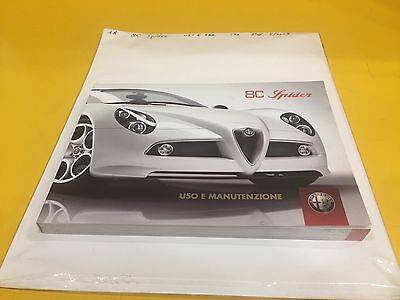 Alfa Romeo 8C Spider - Owner's Manual #5/2009