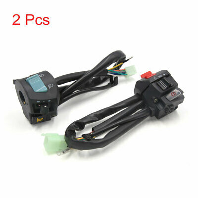 2pcs Motorcycle Handlebar Horn Turn Signal Light ON/OFF Control Switch for CG