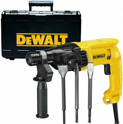 Dewalt D25033 110v SDS+ SDS Plus Hammer Drill 3 Mode + Set of 3 SDS+ Chisels