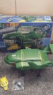 Supersede Thunderbird 2 with sounds & Thunderbird 4 and Gordon figure. Boxed