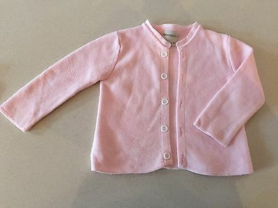 Baby Girls Marquise Pink Knitted Cardigan Size 1  In Exc Cond
