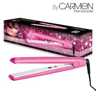 Carmen True Colours Hair Straightener Pink with Ceramic Coated Plates