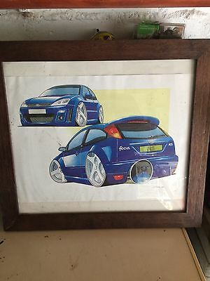 Framed Ford Focus St Picture