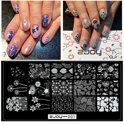 2019 New Lace Flowers Latest Hot Stamping Plates Template Nail Art Design Latest