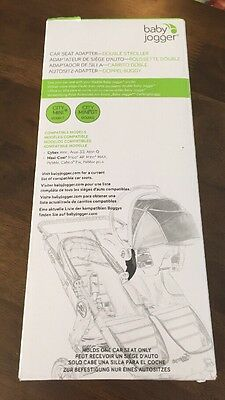 Baby Jogger Car Seat Adapter Double for Cybex and Maxi-Cosi 1967209 (Black) NIB