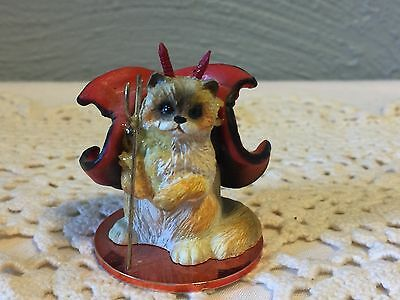 "1997 Tiny One RAGDOLL Devil CAT 2"" Mini Pet Figurine"